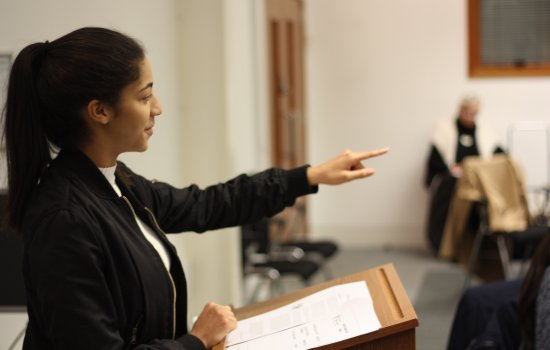 Year 12 students take part in human rights workshop and mock trial