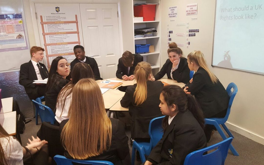 Visiting your school, raising awareness about human rights