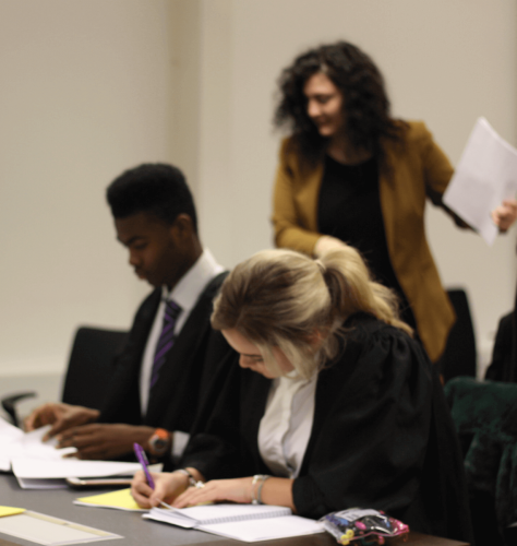 MTrial2 - Year 12 students take part in human rights workshop and mock trial