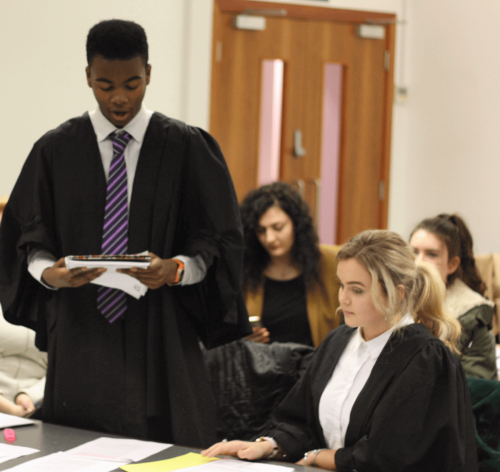 MTrial7 - Year 12 students take part in human rights workshop and mock trial